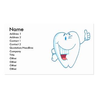 El personaje de dibujos animados limpio sonriente tarjetas de visita