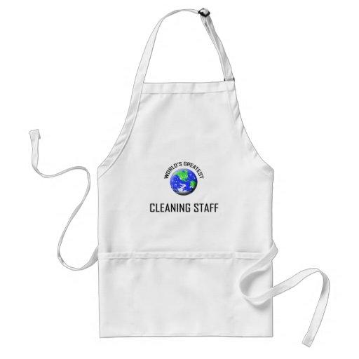 El personal de la limpieza más grande del mundo delantales