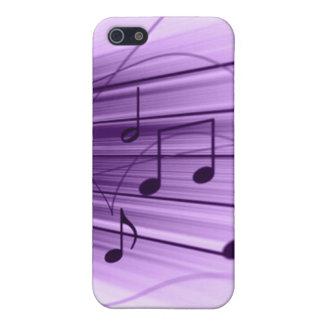 El personal púrpura y blanco de la música observa  iPhone 5 carcasa