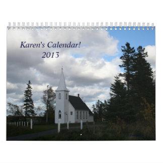 El personalizable 2013 de Karen del calendario
