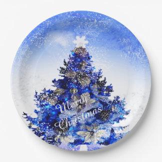 El personalizable adornó el árbol de navidad azul