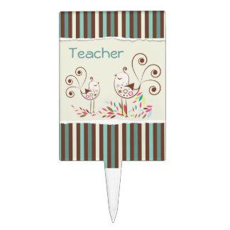 El personalizable agradece al profesor, raya figura para tarta
