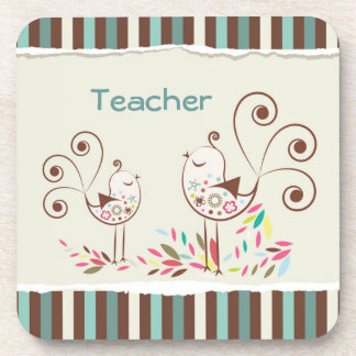 El personalizable agradece al profesor, raya capri posavasos