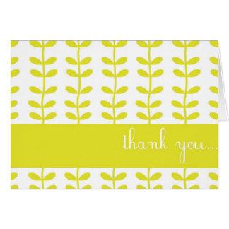 El personalizable amarillo de las plantas que sube tarjeta de felicitación