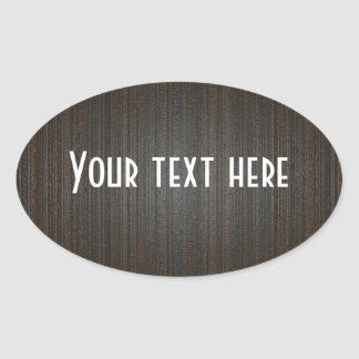 El personalizable añade la madera BG del texto Pegatina Ovalada