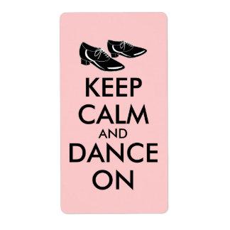 El personalizable de los zapatos del baile guarda etiqueta de envío