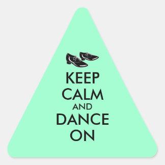 El personalizable de los zapatos del baile guarda pegatina triangular