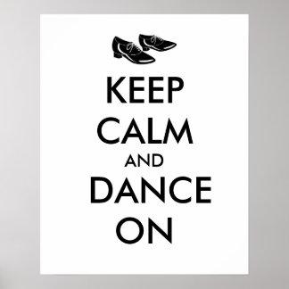 El personalizable de los zapatos del baile guarda póster