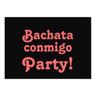 El personalizable del baile de Bachata Conmigo Invitación 12,7 X 17,8 Cm