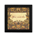 El personalizable del Pre-Raphaelite de Wm Morris  Joyero Cuadrado Pequeño