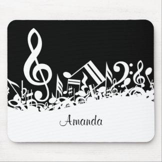 El personalizable embarulló las notas musicales alfombrillas de raton