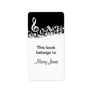 El personalizable embarulló los Bookplates de las Etiquetas De Dirección