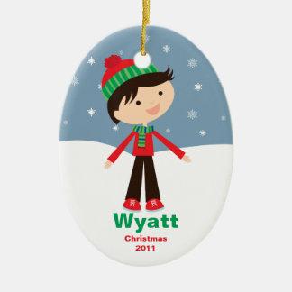 El personalizable embroma el ornamento del navidad ornato