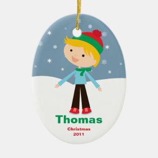 El personalizable embroma el ornamento del navidad adornos de navidad