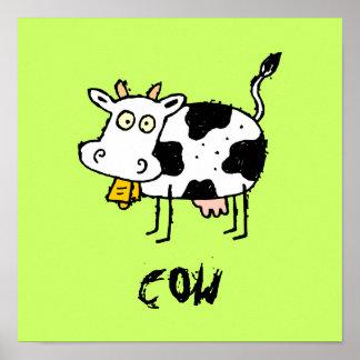 El personalizable enrrollado de la vaca de la gran impresiones