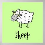El personalizable enrrollado de las ovejas de la g posters