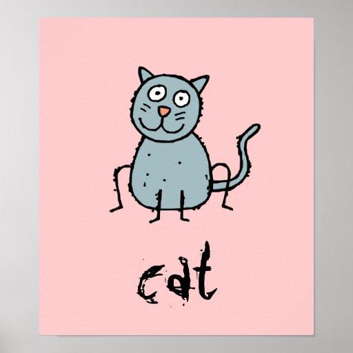 El personalizable enrrollado del gato de la granja poster