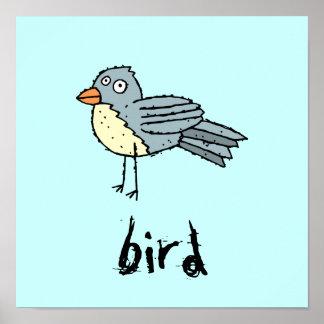 El personalizable enrrollado del pájaro de la gran poster