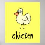 El personalizable enrrollado del pollo de la granj posters