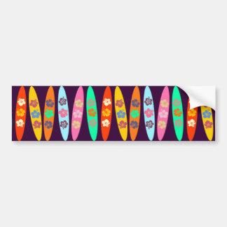El personalizable floreció las tablas hawaianas pegatina para auto