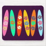 El personalizable floreció las tablas hawaianas alfombrilla de ratón