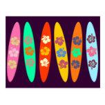 El personalizable floreció las tablas hawaianas postal