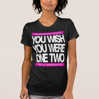 El personalizable graduado 2012 usted desea la camiseta