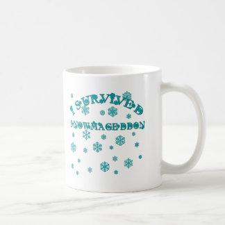 El personalizable I SOBREVIVIÓ SNOWMAGEDDON Tazas De Café