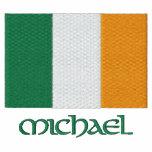 El personalizable irlandés de la bandera bordó dis camiseta polo bordada