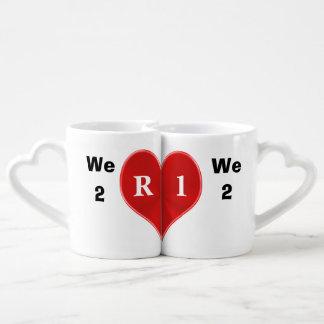 El personalizable junta las tazas que caben juntas taza para enamorados