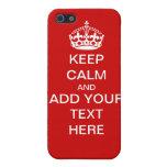 El personalizable mantiene tranquilo y continúa el iPhone 5 carcasas