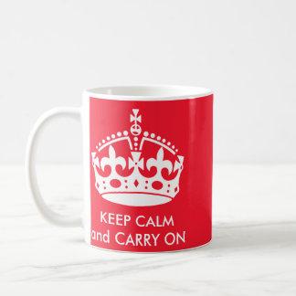 El personalizable mantiene tranquilo y continúa la taza de café
