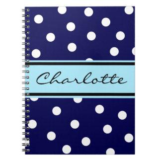 El personalizable puntea el cuaderno del monograma