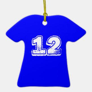 el personalizable se divierte número del jugador adorno de cerámica en forma de camiseta