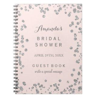 El personalizable se ruboriza libro de visitas spiral notebook