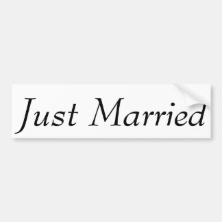 """El personalizado """"acaba de casar"""" a la pegatina pegatina para auto"""