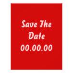 El personalizado, ahorra la fecha. Rojo y rosa Tarjetas Publicitarias
