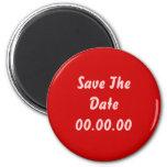 El personalizado, ahorra la fecha. Rojo y rosa Iman