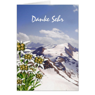 El personalizado alpino de Edelweiss de la flor le Tarjeton