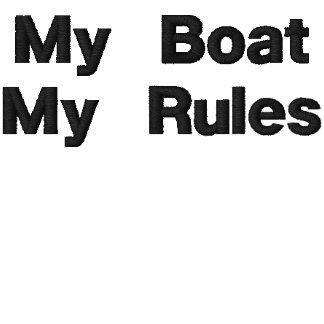 El personalizado bordó mi barco - mis reglas