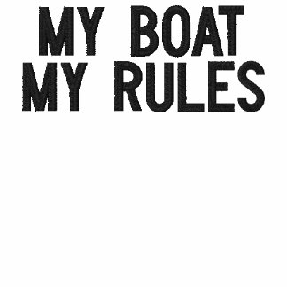 El personalizado bordó mi barco - mis reglas sudadera con capucha