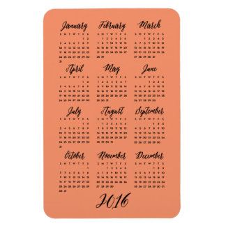 El personalizado colorea 2016 imanes del