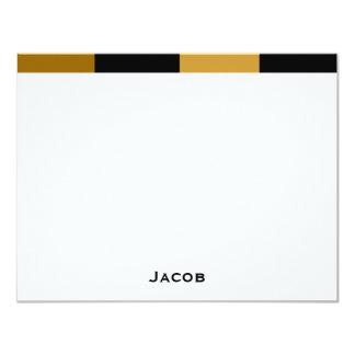 """El personalizado de Jacob le agradece barrar la Invitación 4.25"""" X 5.5"""""""