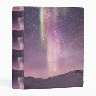 El personalizado de la aurora boreal personaliza mini carpeta