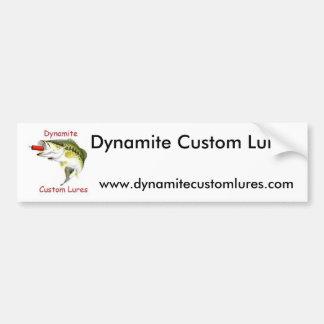 El personalizado de la dinamita engaña a la pegati etiqueta de parachoque