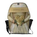 El personalizado de la novia (marfil) bolsas de mensajería