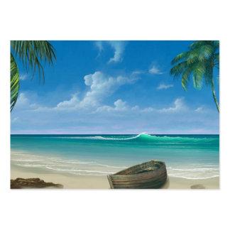 El personalizado de la puesta del sol de la playa tarjetas de visita grandes