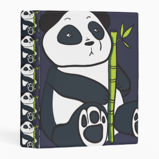 el personalizado de los osos del oso de panda mini carpeta
