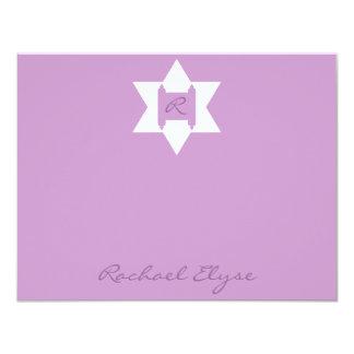 """El personalizado de Raquel Elyse le agradece Invitación 4.25"""" X 5.5"""""""