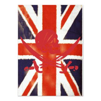"""El personalizado de Union Jack del vintage del Invitación 5"""" X 7"""""""